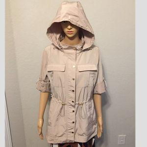 Calvin Klein Lightweight Hooded Utility Rain coat